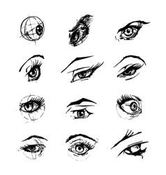 Female eyes vector
