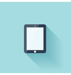 Flat tablet icon with shadow vector image