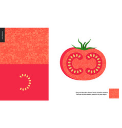 food patterns vegetable fruit tomato vector image