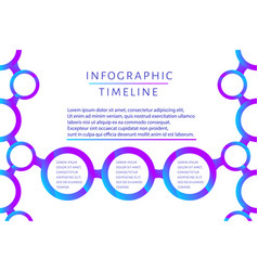 futuristic infographic timeline template with 3 vector image