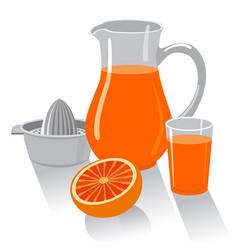 grapefruit fresh juice vector image