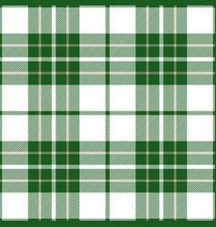 Green and white tartan plaid seamless pattern vector