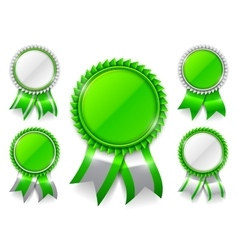 Green Award Medals vector image