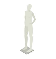 Grey mannequin icon isometric style vector