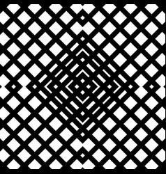 Grid mesh seamless geometric pattern monochrome vector