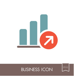 growth graph outline icon finances sign vector image