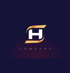 h letter logo design modern letter template vector image