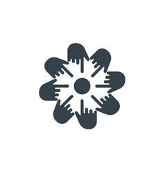 Hand cursor concept logotype template design vector