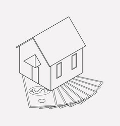 Home mortgage icon line element vector