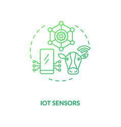 iot sensors concept icon vector image