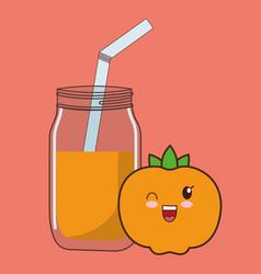 Kawaii food icon image vector