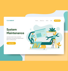 Landing page template system maintenance vector