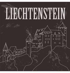 Liechtenstein landmarks Retro styled image vector