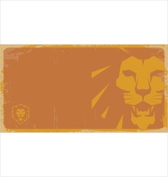 Lion poster lion sign vector image
