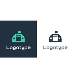Logotype military barracks station icon isolated vector