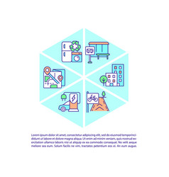 Maintain air quality in city concept line icons vector