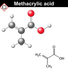 Methacrylic acid molecule vector image