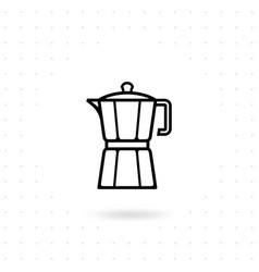 moka pot icon vector image