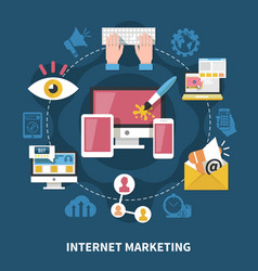 online marketing composition vector image