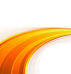 Orange power swoosh wave folder template vector
