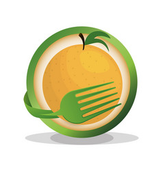 Orange vegan food fresh vector