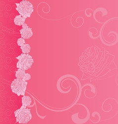pink background with roses vector image