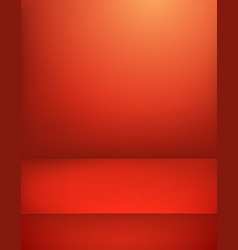 Red illuminated stage vertical advertising vector