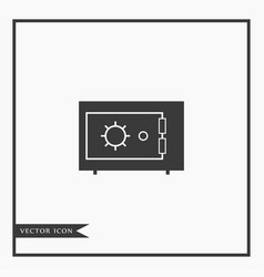 safe icon simple vector image