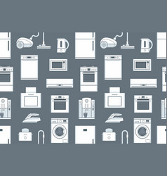 Seamless pattern with household appliances vector