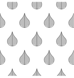 seamless pattern with stylized abstract leaves vector image