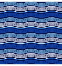 Seamless Wavy Blue Pattern vector image