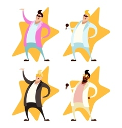 Set of Pop singers vector