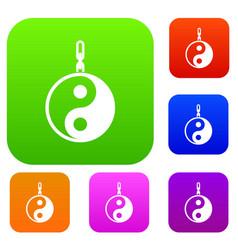 Sign yin yang set collection vector