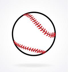 simple baseball vector image