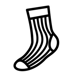 sport sock icon simple style vector image