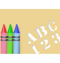 stencil and crayons vector image