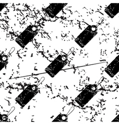 String tag pattern grunge monochrome vector image
