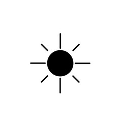 sun icon black on white vector image