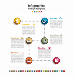 timeline design template with place for your data vector image