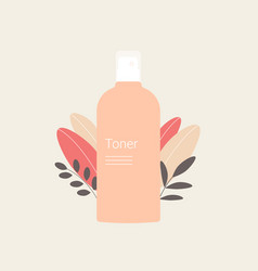 Toner with plant leaves vector