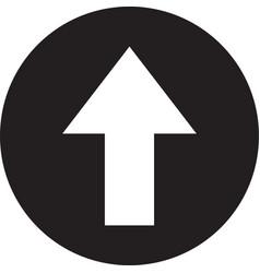 up arrow icon upload arrow icon vector image
