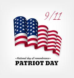 usa patriot day card vector image