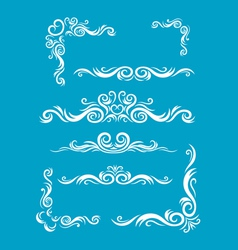Various bordes decoration vector
