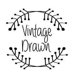 Vintage draw design ornament icon sketch concept vector