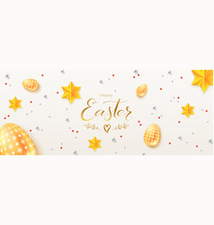 vintage easter pattern on white background vector image