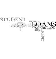 which source is better for bad credit student vector image