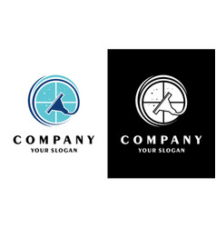Windows cleaner logo or cleaning application logo vector