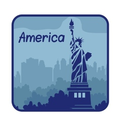 With statue of Liberty in America vector