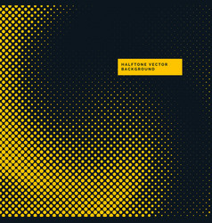 Yellow and black halftone dots background vector