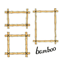 Yellow bamboo frames vector